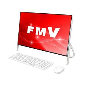富士通 FUJITSU FMVF52C2W デスクトップパソコン ESPRIMO 23.8型ワイド Celeron メモリ4GB HDD1TB Win10 Office付 ホワイト 新品 送料無料