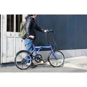 ミムゴ ACTIVE911 FDB206SF ノーパンク20インチ 折畳自転車 6段ギア ブルー MG-G206NF-BL 新品 送料無料 メーカー倉庫より直送|eightloop|15