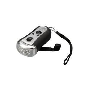 アウトレット品 パッケージ傷み有 LEDライト付きFMラジオ 手回し ダイナモタイプ ESLEDRADY 新品 送料無料|eightloop