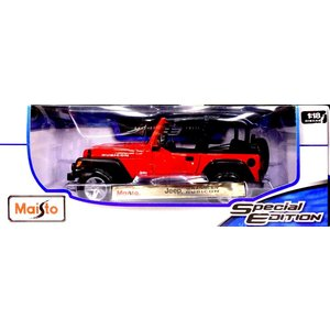 Maisto マイスト 1/18 DIECAST Jeep WRANGLER RUBICON ジープ ラングラー ルビコン レッド 新品 送料無料|eightloop