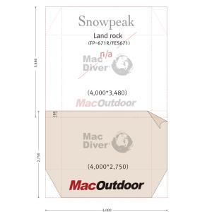 商品名  : snowpeak  ランドロック TP-671 グランドシート Fire Proof ...