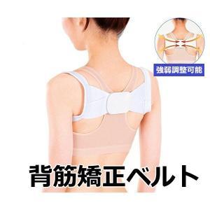 ピーンと背筋ベルト 姿勢 背筋 猫背 腰痛 肩こり 矯正 ベルト 調整可能 背筋サポート 通常タイプ R1063-JH|eightray-shop
