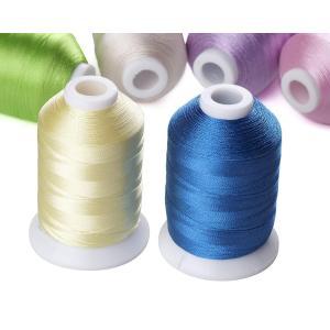 Simthread 家庭用刺繍機用の63色 1000Mポリエステル刺繍ミシン糸ハンドステッチ