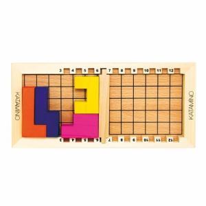 36,057の組合わせが数学的脳をつくる「カタミノ」。様々な形をしたブロックを組み合わせ、指定された...