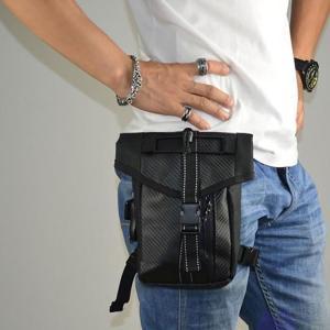 メンズ レッグポーチ レッグバッグ ボディバッグ ヒップバッグ 防水 多機能 ストリート 耐磨耗 鞄...