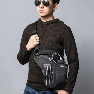 メンズ レッグポーチ レッグバッグ ボディバッグ アウトドア 帆布 多機能 アンティーク調 鞄 バイ...