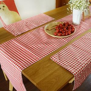 テーブルクロス 食卓カバー デスクマット テーブルマット  ビンテージ  チェック柄  テーブルカバー 汚れ防止 傷防止 おしゃれ 大人気 滑り止めの画像