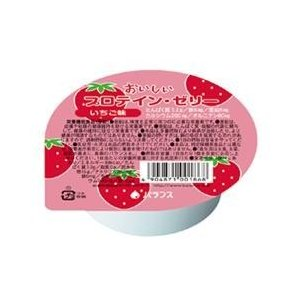 おいしいプロテインゼリー イチゴ味 74g バランス|eiken-healthfood