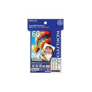 インクジェットプリンタ用紙 写真用紙(高光沢) L判 60枚     コクヨ   KJ-D12L-60 【59485360】   1袋(60枚入)