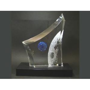ホヤ クリスタル・オブジェ 月からの地球  H30+4cm|eins