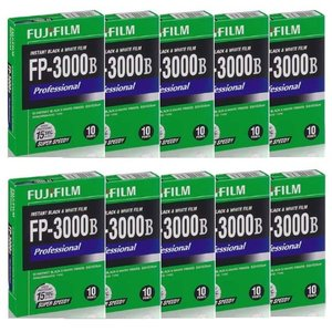 FUJIFILM FP-3000B(ISO3200モノクロ)レギュラーサイズ10本パック【並行輸入品】|eipawashoppu