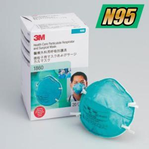 3M N95微粒子用マスク レギュラー 1860 20枚入の画像