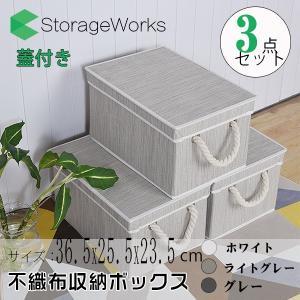 商品名:StorageWorks 不織布収納ボックス  インナーケース 幅36.5×奥行25.5×高...