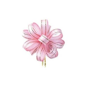 ワンタッチリボン シルックラメ 7×20 ピンク【イージャパンモール】|ejapan