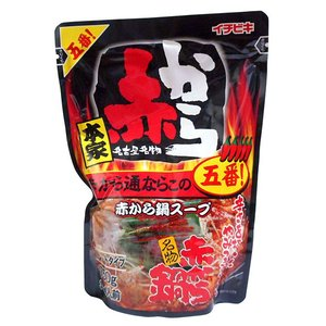 【キャッシュレス5%還元】イチビキ 赤から鍋スープ 5番 750g ×10個【イージャパンモール】|ejapan