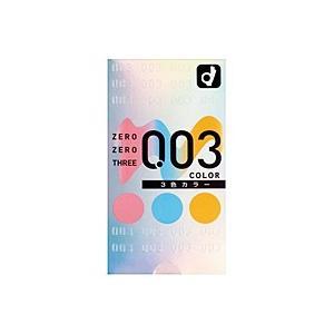 オカモト 003ゼロゼロスリー 3色カラー(12個入)【コンドーム】 ×3個【イージャパンモール】|ejapan