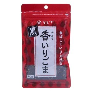 【キャッシュレス5%還元】かどや製油 香いりごま 黒 60g ×30個【イージャパンモール】|ejapan