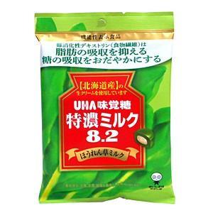 ★まとめ買い★ UHA味覚糖 機能性特濃ミルク8.2ホウレンソウミルク84g ×6個【イージャパンモール】|ejapan