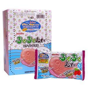 ★まとめ買い★ 名糖 ぷくぷくたい 苺 1個 ×10個【イージャパンモール】 ejapan