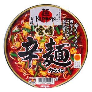 ★まとめ買い★ 日清 麺ニッポン宮崎辛麺 ×12個【イージャパンモール】|ejapan