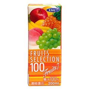 ★まとめ買い★ エルビーフルーツセレクション フルーツMIX 200ml ×24個【イージャパンモール】|ejapan
