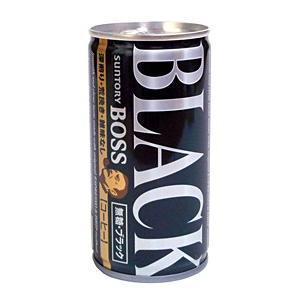 ★まとめ買い★ サントリー ボス 無糖ブラック 185g缶 ×30個【イージャパンモール】|ejapan