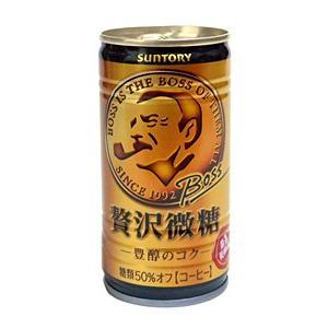 ★まとめ買い★ サントリー ボス 贅沢微糖 豊醇のコク 185g缶 ×30個【イージャパンモール】|ejapan