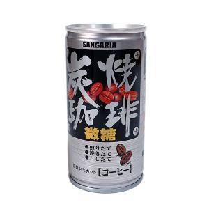 ★まとめ買い★ サンガリア 炭焼珈琲微糖 190g缶 ×30個【イージャパンモール】|ejapan