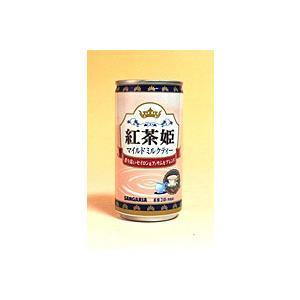 ★まとめ買い★ サンガリア 紅茶姫マイルドミルクティー 185g ×30個【イージャパンモール】|ejapan