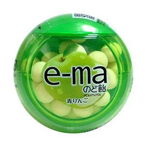 UHAピピン e-maのど飴容器 青リンゴ 33g【イージャパンモール】 ejapan