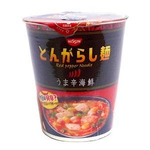 日清 とんがらし麺 うま辛海鮮【イージャパンモール】|ejapan