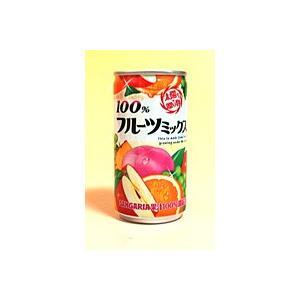サンガリア 100%フルーツミックスジュース 190g缶【イージャパンモール】|ejapan