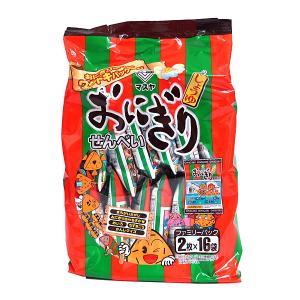 マスヤ おにぎりせんべいファミリーパック 2枚×16袋【イージャパンモール】 ejapan