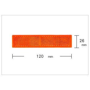 WAKI 反射リフレクター Z-34 長方形 120×26mm 〈オレンジ〉【ホームセンター・DIY館】|ejapan