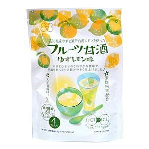 不二食品 フルーツ甘酒ゆずレモン味 15g×4包【イージャパンモール】|ejapan