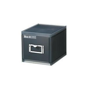 吉川国工業所 ライフモデュール A6 ファイルユニット 深 ブラック LM−70【代引不可】【日用品館】|ejapan
