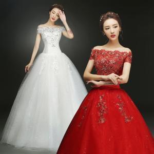 ウェディングドレス 花嫁ドレス レディース パーティー 結婚式 演奏会 発表会 ワンピース 大きいサイズ チュール フォーマル|ejej-shopping