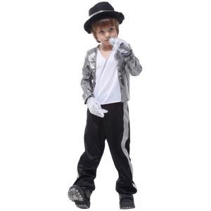 ハロウィン Halloween コスチューム 子供 キッズ コスプレ cosplay Michael Jackson 変装 仮装 学園祭 パーティー服 ダンス衣装 イベント用 ejej-shopping