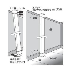 2×4ディアウォール上下パッドセット  4色カラー展開  WAKAI 若井産業|ejoy|03