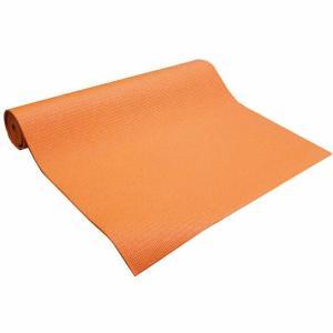 ヨガマット オレンジ 幅61cm×長さ180cm 厚み4mm(エクササイズ ピラティス 持ち運び レッスン 旅行 出張 練習用)|ejoy