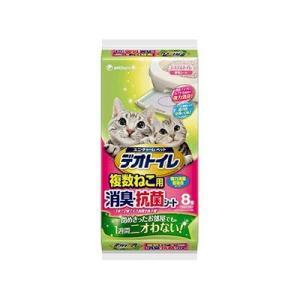 ユニ・チャーム デオトイレ複数ねこ用消臭・抗菌シート 8枚入り 猫用トイレシート