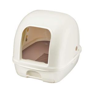 デオトイレ 猫用トイレ 本体フード付き ナチュラルアイボリー ユニ・チャームペット 4520699636725