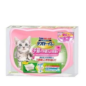 ユニ・チャーム デオトイレ子猫から体重5kgの成猫用ストロベリーピンク|ejoy