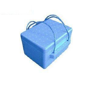 発泡スチロールクーラーボックス ブルー6L ひも付き|ejoy