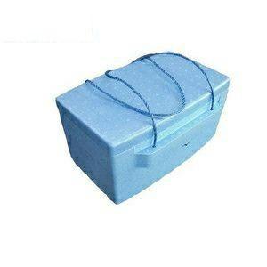 発泡スチロールクーラーボックス ブルー19L ひも付き|ejoy