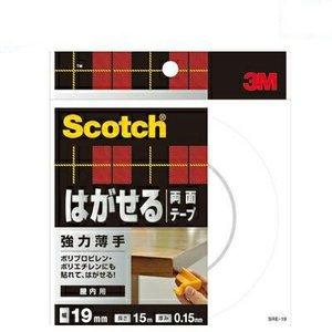 3M スリーエム スコッチ はがせる両面テープ強力薄手 SRE-19