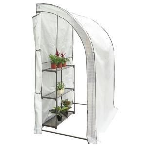 JoyGarden 大型スリム温室 0.6坪 100×200×215cm BDZ00105(ガーデンハウス ビニールハウス グリーンハウス 菜園ハウス ガーデングラック)|ejoy