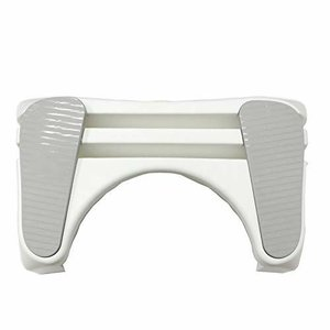 トイレ 楽楽 スムーズ ステップ グレー 送料無料(洋式トイレ用足置き台 踏み台 便秘 力みやすい 台座 ステップ)|ejoy