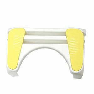 トイレ 楽楽 スムーズ ステップ イエロー  送料無料(洋式トイレ用足置き台 踏み台 便秘 力みやすい 台座 ステップ)|ejoy