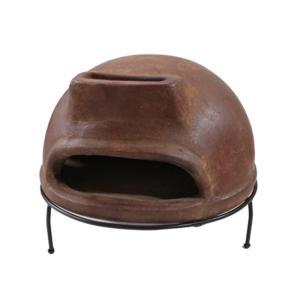 メキシコ産 ピザ窯 サイズ大 直径52cmX高さ44cm  トスカン#055 (ピザ釜 家庭用 ピザ窯メキシコ チムニー)|ejoy